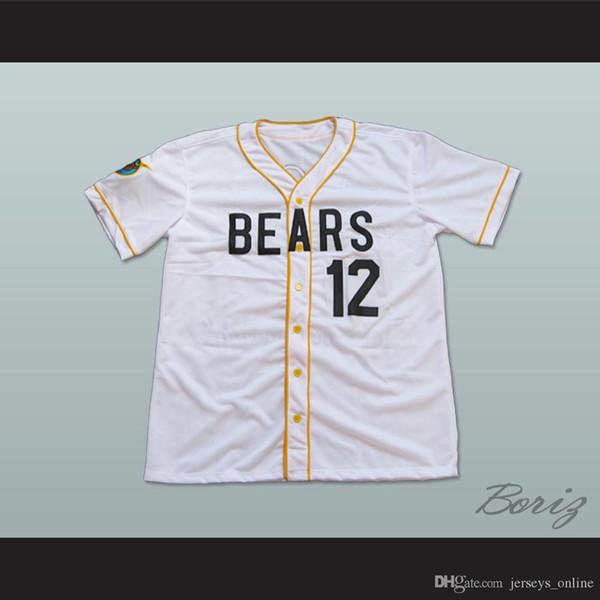 Bad News Bears Baseball Jersey # 12 Tanner Boyle ponto Sewn