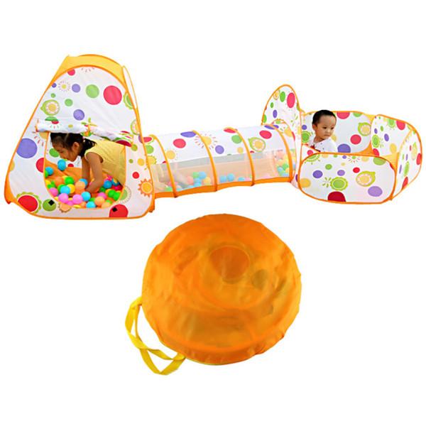3 in 1 Outdoor Plastic Toddler Baby Playing House Playing Tenda da gioco con tunnel Pit Pit per bambini Ragazzi Ragazze