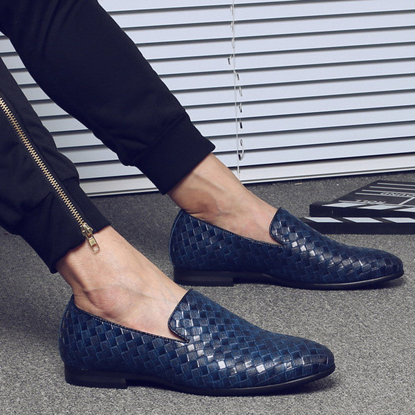 Blauer Leder Loafer