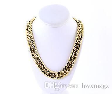 Мужские толстые большие 14k золото позолоченные цепи нержавеющая сталь от мелодии