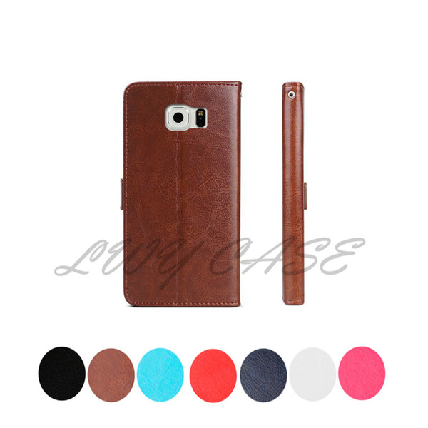 For Samsung Galaxy Note 8 5 4 3 2 S7 Edge S6 Edge S5 S4 S3 G7106 G7200 A7 A8 A9 Retro flip Wallet Leather With Card Slots Stand Holder Case
