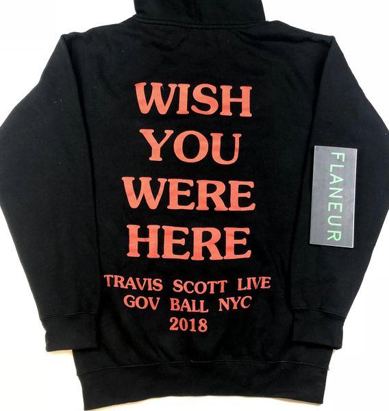 2019 AstroWorld con capucha para hombre de alta calidad de lana sudaderas diseñador de hip hop bordado Envío libre Pullover Nueva Travis sudaderas