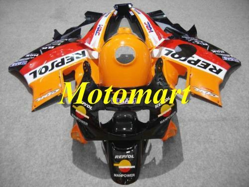 Kit carénage de moto pour HONDA CBR600F2 91 92 93 94 CBR 600 F2 1991 1994 Top rouge orange noir Carénages + cadeaux HF03