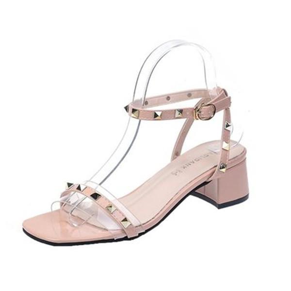 Дизайнерские сандалии Fashion Luxury Designer Женская обувь Заклепки Плоские тапочки Сандалии на платформе Горки Леди Шлепанцы Шипованная женская обувь