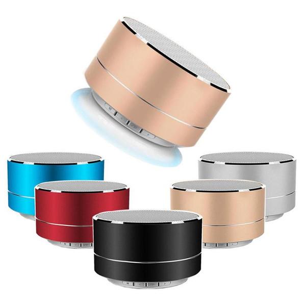 Cylindre en alliage d'aluminium A10 Mini haut-parleur sans fil Bluetooth Haut-parleur Appels mains libres Carte TF musique Subwoofer haut-parleur stéréo pour les téléphones
