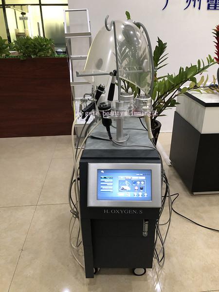 2019 China Professionelle Vertikal 9 IN 1Multifunctional Intraceuticals Sauerstoff-Gesichtsbehandlung Sauerstoff-Spray Bio RF Ultraschallgerät
