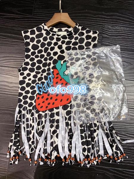 High-End-Damenmädchen Kurzärmlige T-Shirts CREW NECK Ärmelloser Briefdruck mit Rundhalsausschnitt mit Leopardenmuster Wilde High-End-Mode-T-Shirt-Tops