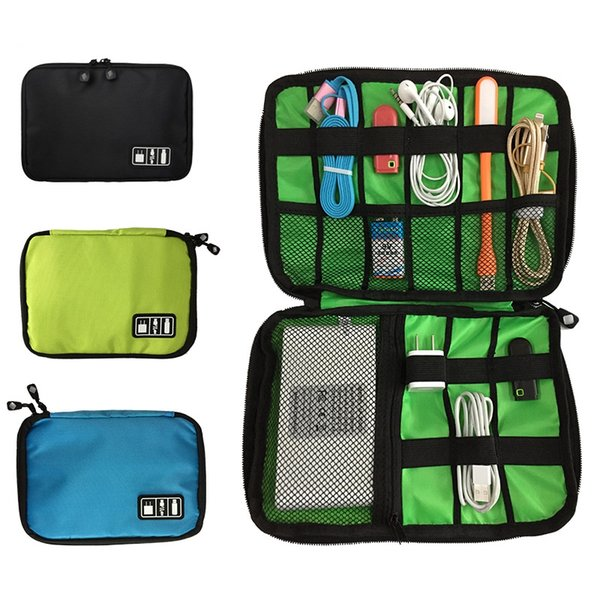 Fashion Organizer System Kit Case USB Data Cable Earphone Wire Pen Power Bank Storage Bag Digital Gadget Devices