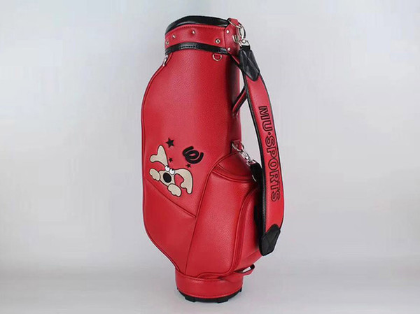 brand new mu sports golf standard ball package mu sports golf bag pu red color clubs bag ing
