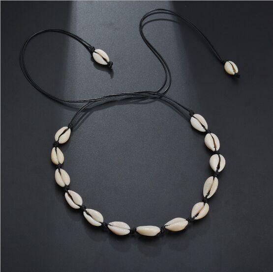 1 adet Yeni Moda Deniz Kabuğu Gerdanlık Kolye Halat Zincir Doğal Seashell Takı Kadınlar için Basit Yaka Kolye 8473-8474