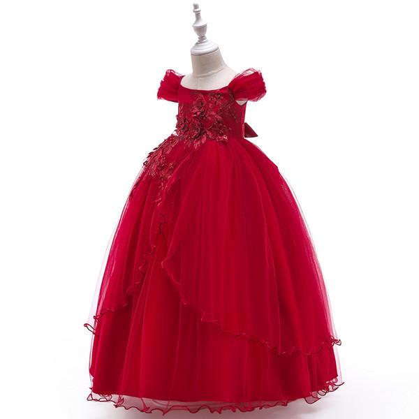 alta calidad para niños vestidos de noche niña puff princesa falda vestido de un hombro princesa vestido falda de malla mullido formal fiesta de baile vestidos Speci