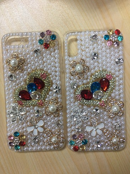 Luxury Phone Case Bling Diamond Diy Hand Made Phone Case Cover For Iphone 6s Plus 7 8plus X Xs Samsung S8 Cell Phone Case Mobile Phone Cases From