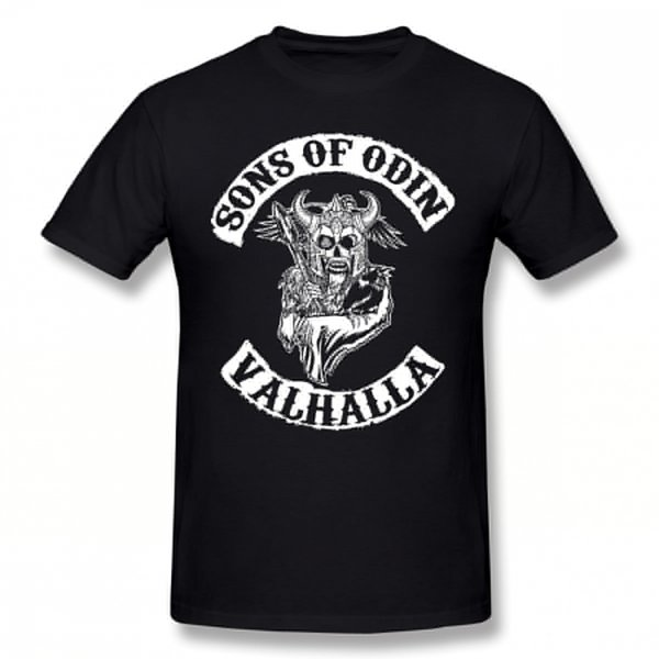 Sons Of T Shirt Sons Of Odin Valhalla Chapter T-Shirt Streetwear Awesome Tee Shirt Short-Sleeve Men 100 Cotton Tshirt