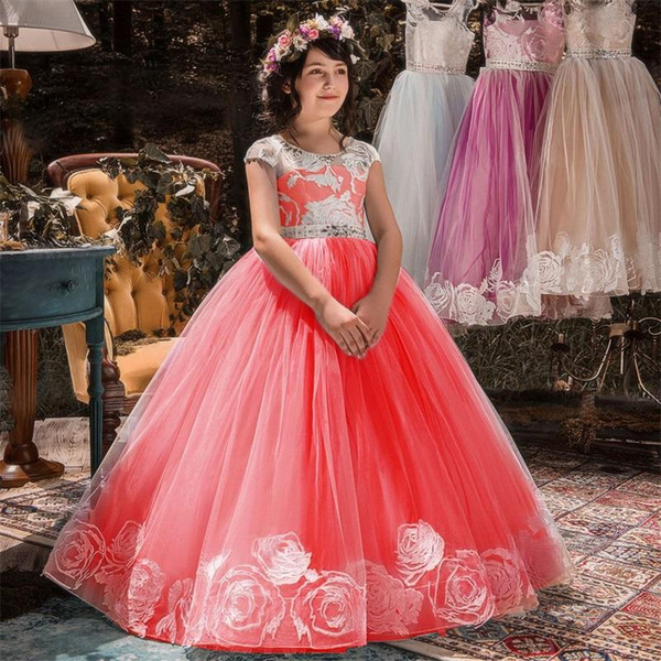 Children Girl Dress Long Dress Little Lady Formal Events Party Wear Christmas Prom Gown First Commmunion Dresses Girls Clothes