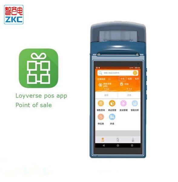 Android-Handheld-NFC-Zahlungsterminal, eingebaut in Drucker-Kamerascanner, Touchscreen WIFI 3G, unterstützt Loyverse-Software