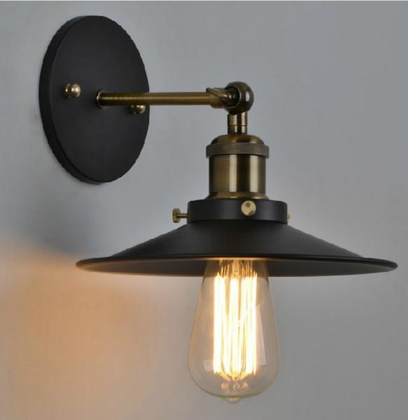 10 teile / los Durchmesser 22 cm Antike Schmiedeeisen Kleine Wandleuchte Rustikale Persönlichkeit Kreative Wandleuchte Vintage Eisen Beleuchtung Keine Birne