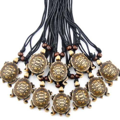 Jewelry wholesale 12pcs/LOT men women's yak bone carved lovely tribal style brown Sea Turtles charms Pendants Necklaces Gifts tt28