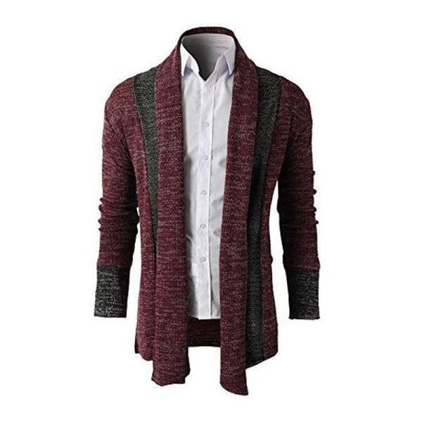 2019 New Men Sweater costura Primavera Fina Cardigan Mens Jacket Casual M-XXL Tamanho frete grátis