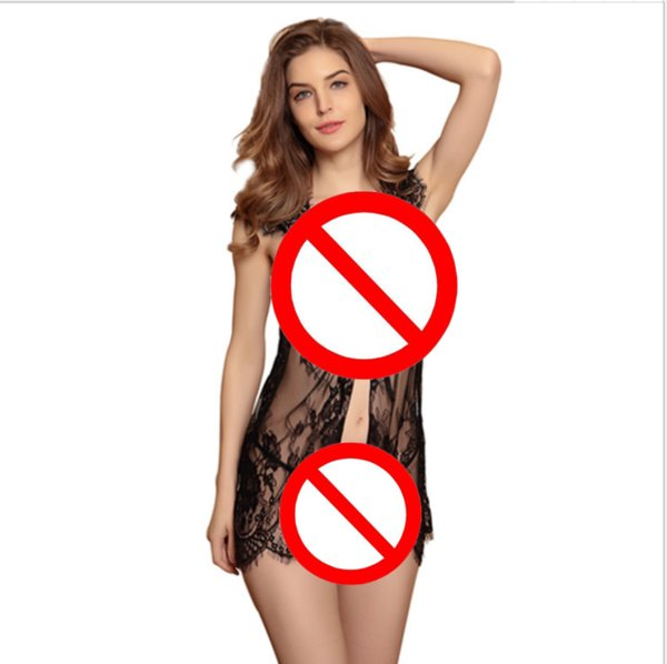 Foreign trade explosions Eyelashes sexy lingerie European and American nightdresses Sexy lace pajamas wholesale 2631