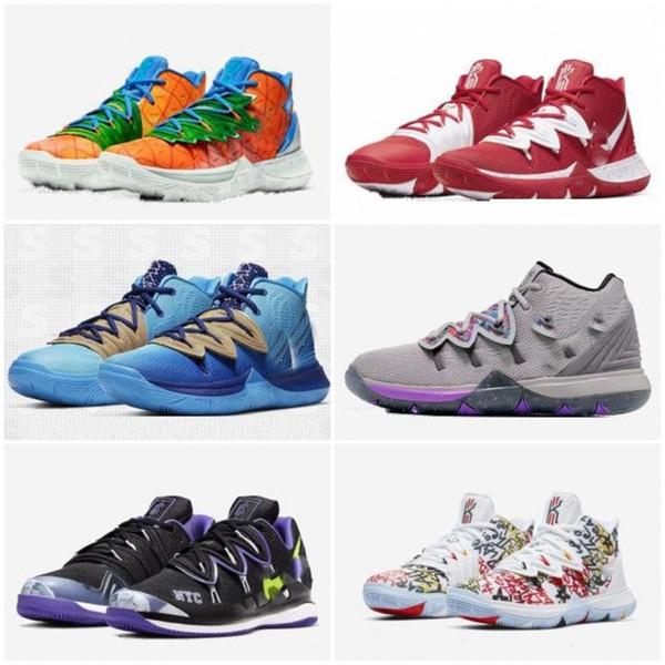 Kyrie Irving 20. Yıldönümü 5s ANANAS EVİ GRAFFITI İçin Tv PE Basketbol Ayakkabı 5 Ayakkabı Squidward Sünger boyutu 40-46 x