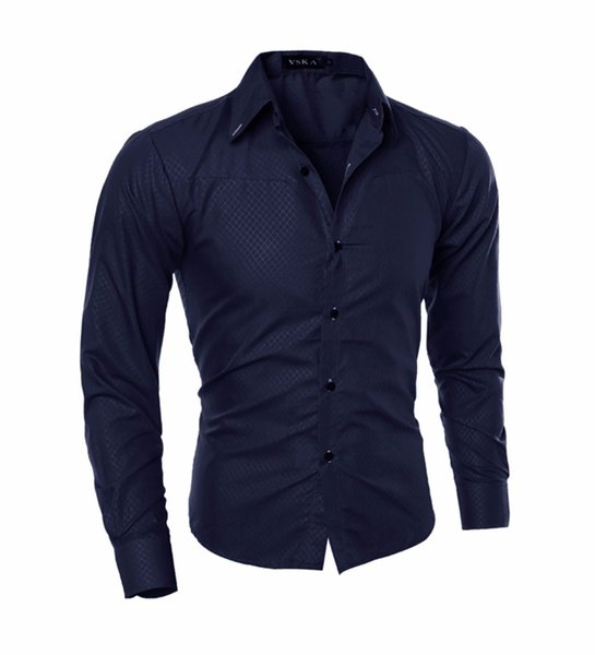 Men Shirt New Arrival Male Solid Color Business Tuxedo Long Sleeve Casual Shirt Cotton Dress Shirts Big Size 5XL