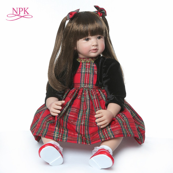 60cm Very Big Reborn Toddler Princess Handmade Silicone Vinyl Adorable Lifelike Baby Bonecas Girl Kid Bebe Doll Reborn Menina MX190801