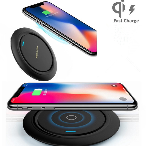 best selling 10W Qi Fast Wireless Charger for iphone 11 pro max Q18 LED Lighting Quick Charging Pad With Micro USB Cable for Samsung Note10
