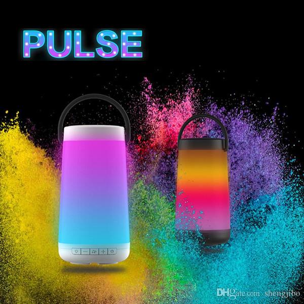Pulse 2018 Mini Smart Bluetooth Speaker LED Portable Wireless Speaker Pulse3 D Stereo MP3 Player for phone speaker BQ-615