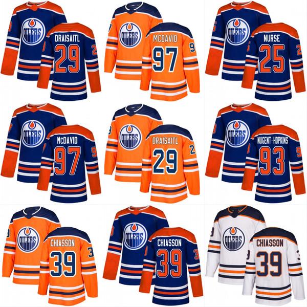 official photos 7b6fe 67ddc 2019 2019 Alternate 40th Patch Edmonton Oilers Jersey Connor McDavid Leon  Draisaitl Ryan Nugent Hopkins Alex Chiasson Zack Kassian Darnell Nurse From  ...