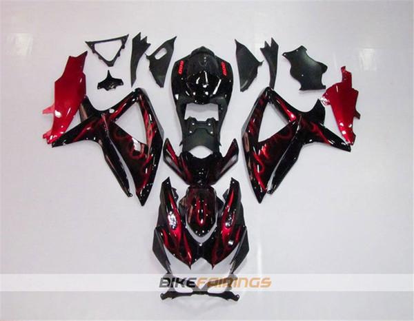Schwarz Red Flame