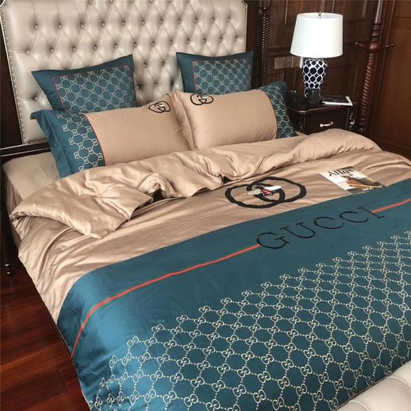 Klassische Biene Stickerei Bettwäsche Anzug Für Männer Und Frauen Qualität Leben Bettwäsche Sets Neue Design Bettlaken Sets