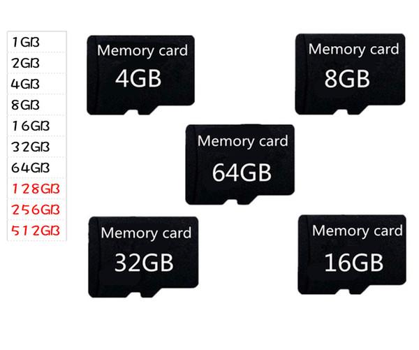 Orjinal Mikro SD Kart 16GB 32GB 64GB 128GB Sınıf 10 Gerçek Kapasite 1GB 2GB 4GB 8GB Class 4 Bellek TF SD Kart