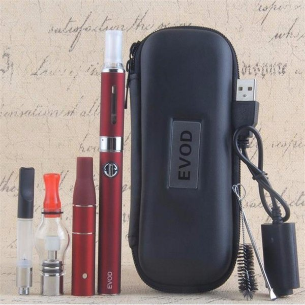 Original super 4 in 1 Starter Kits USB Passthrough 510 battery Electonic cigarette Multi Vaporizer EVOD ce4 Vape Pen dry herb tank factory s