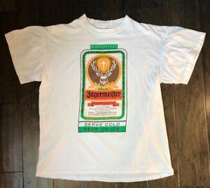 Vintage Punto singolo Jagermeister Double T Sided camicia taglia L