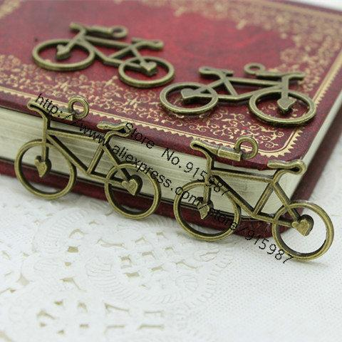 Sweet Bell 250pcs/lot 22*31mm Antique Bronze Metal Alloy Bicycle Charms Jewelry Pendant Findings D0339