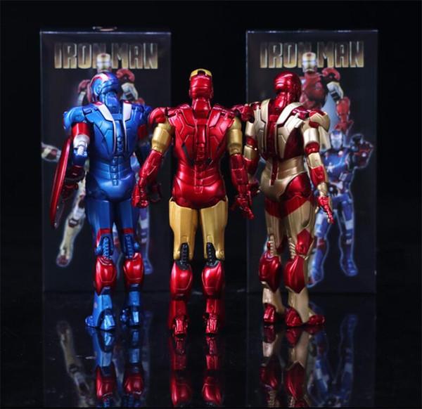 Anime Figure Avengers Mobile Iron Man 3 Tony Patriot PVC Action Characters Children Toy Doll Model Movable Model Lite Bag