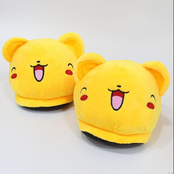 Hot New Unisex Anime Cartoon Series Slippers House Women Warm Indoor Wood Floor Home Plush Shoes Mens Fluffy Slipper