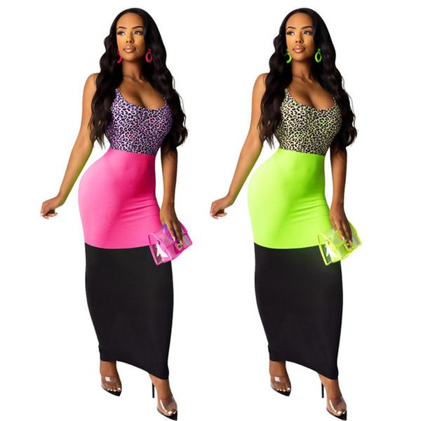 Women Night Club Midi Dress Scoop Neck Sleeveless Dresses Panelled Bodycon Fall Sexy Clothing Designer Hot Selling Free Shipping 1051