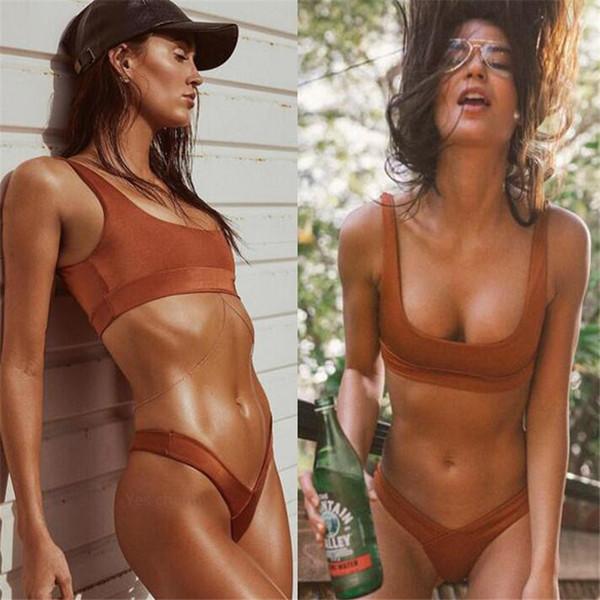 Bikini Mayo Kadınlar Benzersiz Plaj Mayo Push Up Brezilyalı Takım Elbise Bikini Biquini Bikini Set Beyaz Mayo Kadınlar