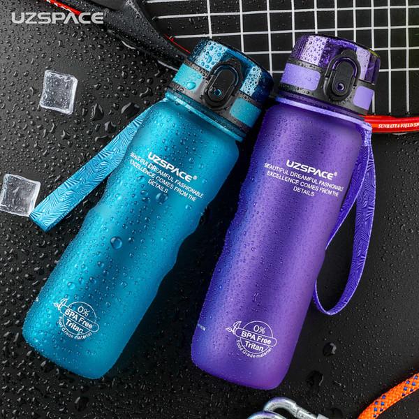 Uzspace Sports Water Bottles Direct Drink&straw My Bottle For Water 500ml Portable Leakproof Plastic Drinkware Tritan Bpa Free T190704