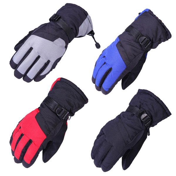 Winter Gloves Waterproof Windproof Thicken Warm Plush Gloves Motorcycle Ski Snowboard Anti-slip For Outdoor Women Men