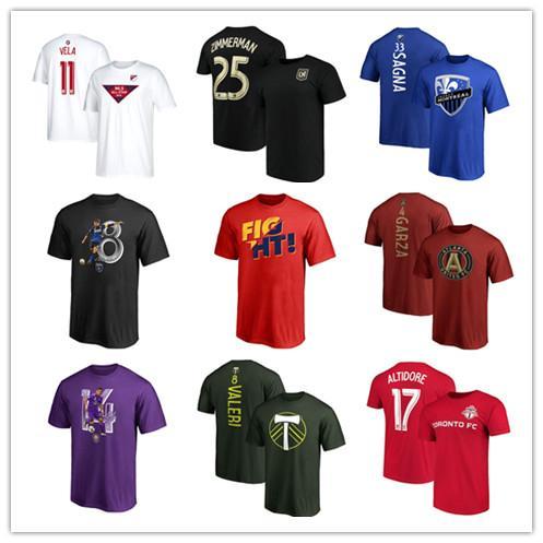 18 19 Brander MLS futbol forması 22 Laurent Ciman 33 Bacary Sagna 9 Diego Rossi futbol Tees kısa kollu gömlek Oyuncu Adı futbol T-shirt