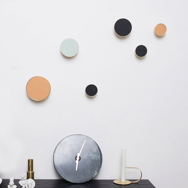Round Solid Brass Nordic Modern Metal Wall Hangings Single Hook Pure Copper Decorative Coat Hook