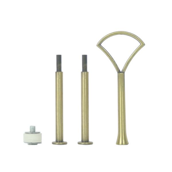 Pequeno Leque Padrão De Metal De Prata De Ouro Bronze Do Queque Do Aniversário Do Casamento 3 Camadas Bakeware Bolo Placa Stand Handle