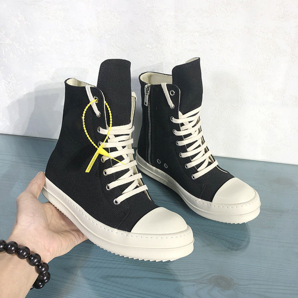 best selling Breathable Men Canvas Boots High Top Male Fashion Sneakers Black Lace Up Men Shoes Boots 9#25 20D50