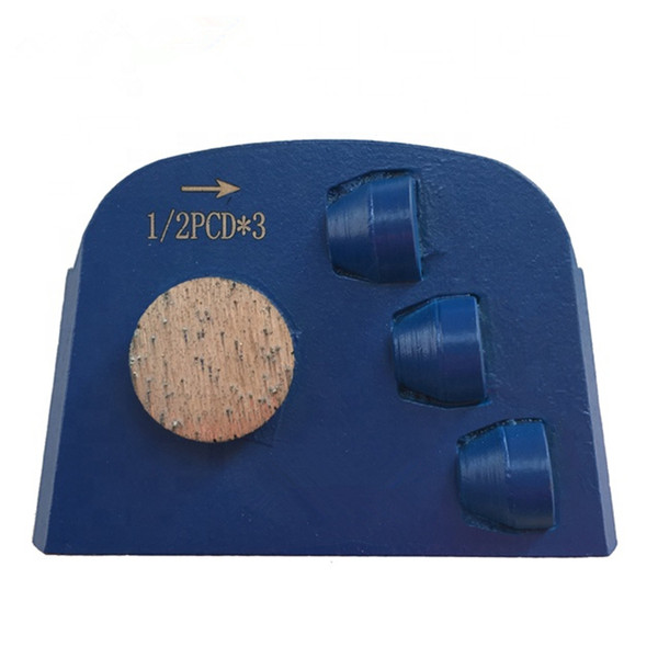 top popular KD-B70 Lavina Diamond Grinding Shoes PCD Grinding Disc with Three PCD for Epoxy Glue Concrete Coating Removing 9 Pieces One Set 2021