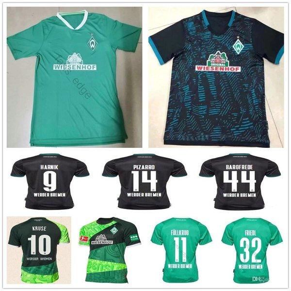 2019 SV Werder Bremen 120th Anniversary 19 20 Werder Bremen Home Green KRUSE PIZARRO Soccer Jersey 2020 OSAKO Third Black Football Shirt