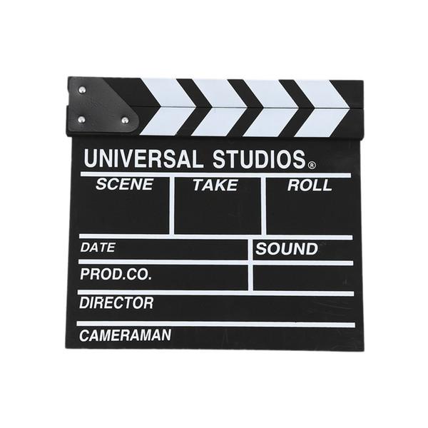 12x11 inch / 30cm x 27 centimetri di legno del regista di film Slateboard Clapper Board