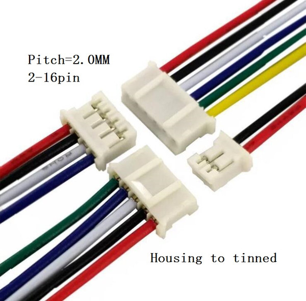 Picth=2.0mm 2~16PIN PH2.0 Housing To Tinned Terminal Wire Harness  on