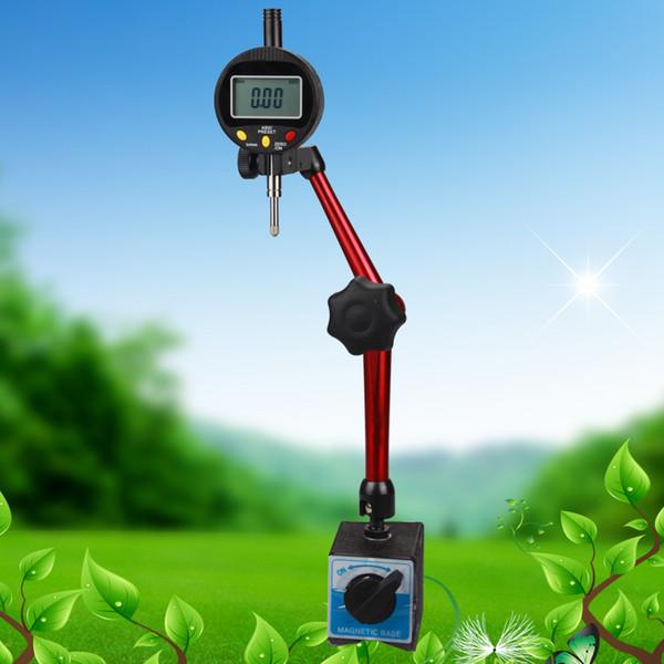 top popular 0.01mm 0.0005'' Dial Indicators & Metal Magnetic Holder Measurement Instruments Gauge Tools 2021
